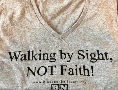 BN Slogan Women's V-Neck T-shirt - Grey