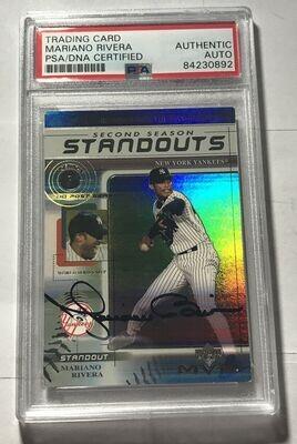 Mariano Rivera Autographed Baseball Card PSA/DNA