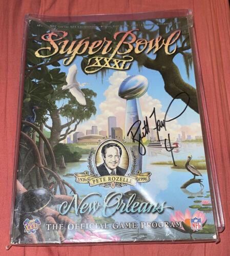 Brett Farve Super Bowl XXXI autographed program