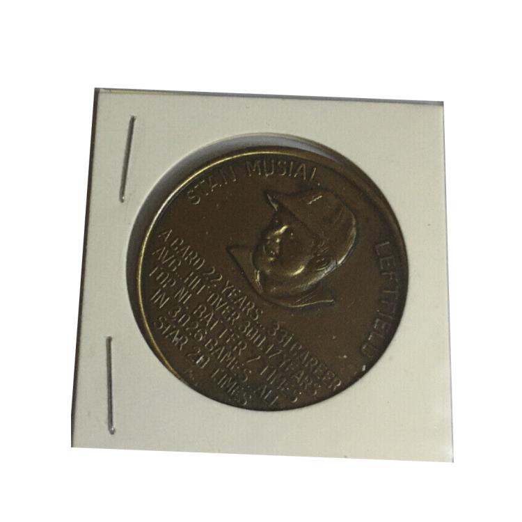 1966 St. Louis Cardinals Busch Stadium Immortals Coins Stan Musial