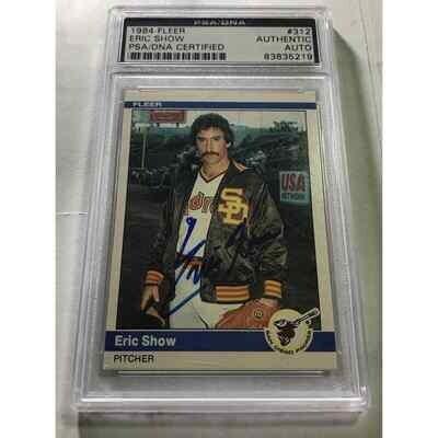 Eric Shaw 1984 Fleer Autographed Card PSA/DNA