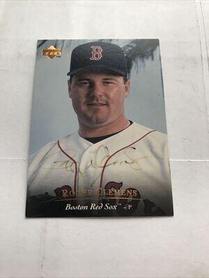 Roger Clemens Autographed Baseball Card UDA