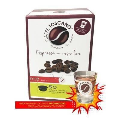 600 CAPSULE CAFFE TOSCANO RED BOX 50