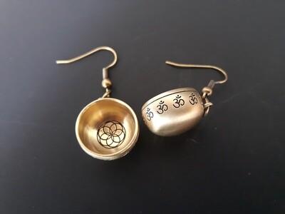 Boucle d'oreille Visage de Bouddha