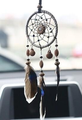 Car rear view mirror dreamcatcher/airfreshener