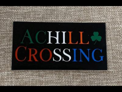 Achill Crossing Sticker Black/Color