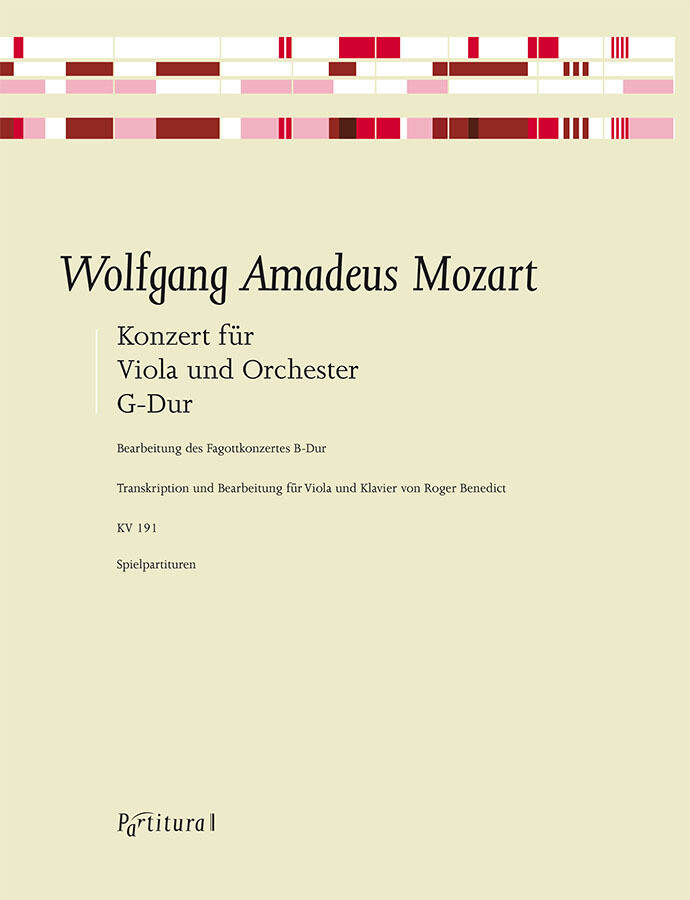 Mozart, arr Benedict: Viola Concerto KV191