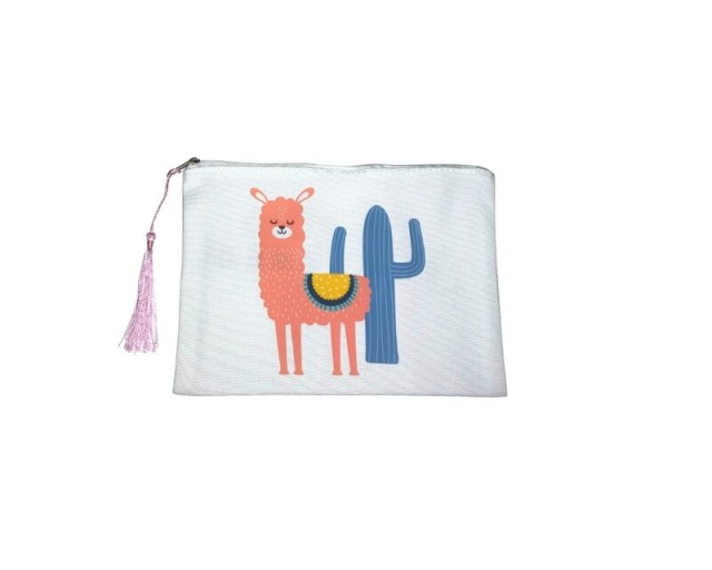 LLAMA AND CACTUS POUCH