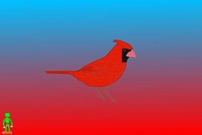 Red Bird Artwork