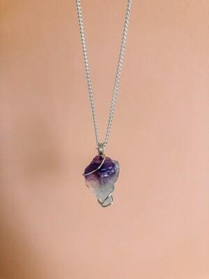 Amethyst Necklace, Silver