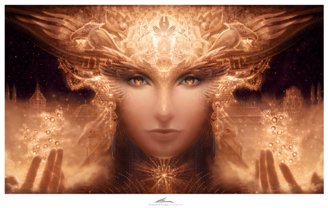 Celestial Healer - 22 in. by 13.5 in. LE 25 Signed Paper Print
