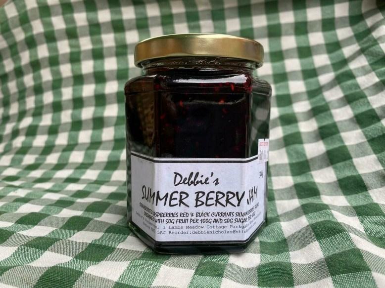 Preserves: jam, summer berry. Debbie's, Newdigate.