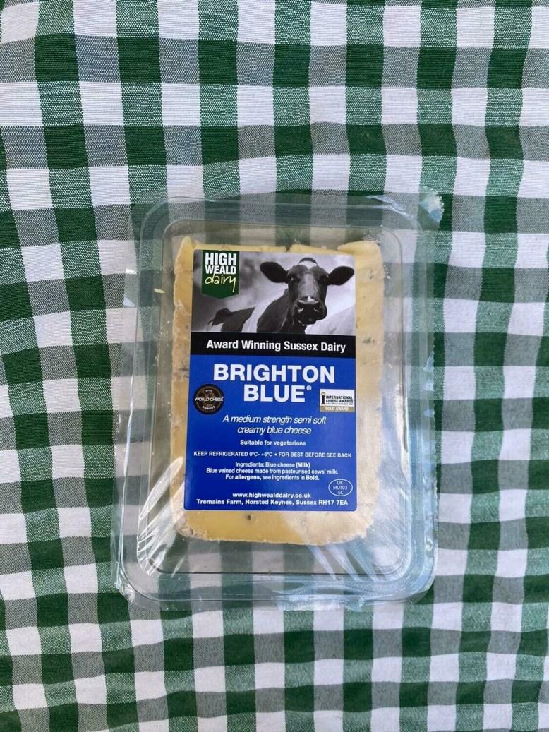 Cheese: Brighton Blue (150g). Cow milk. High Weald Dairy.