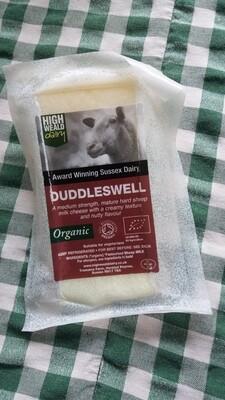 Cheese: Duddleswell (125g). Sheep milk. High Weald Dairy, Horsted Keynes.