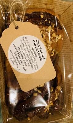 Cake: babka, chocolate & hazlenut. Babushka Bakery, Dorking.
