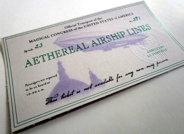 American Wizarding Government Airship Ticket