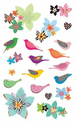 Mother Nature Birds & Flowers Stickers