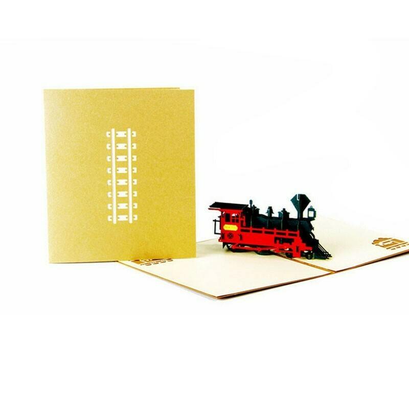 Pop Up Steam Express Train Card