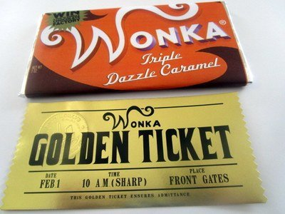 Modern Golden Ticket & Replica Bar Set