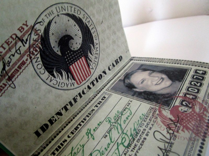 American Wizarding Government Identity (I.D.) Card