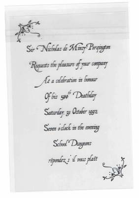 Nick's Deathday Invitation