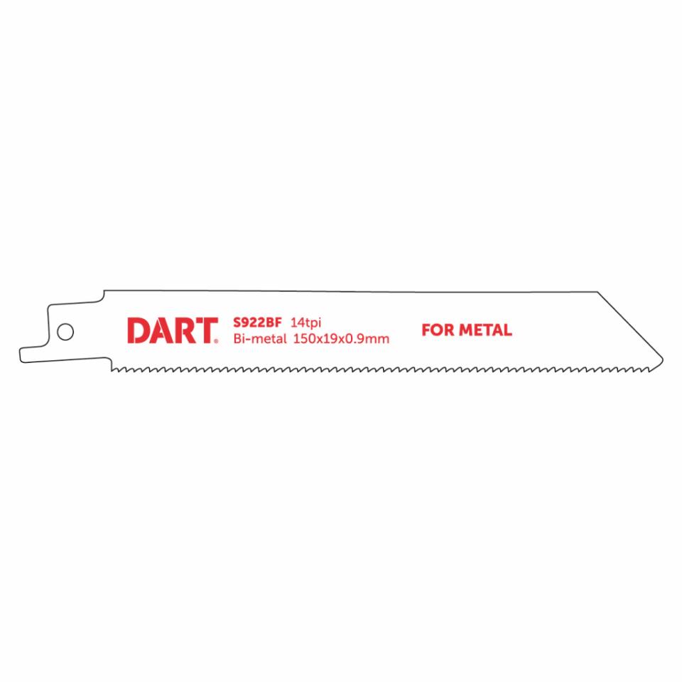 130mm x 14TPI Reciprocating Blades BIM S922BF Pack of 5