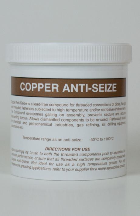 Copper Anti-Seize High Temperature Paste 500 Grams