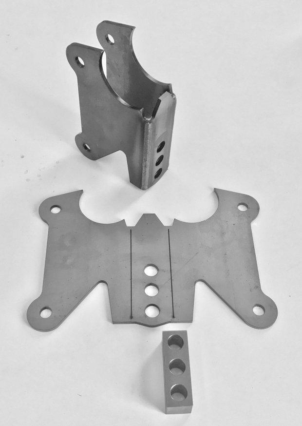 Axle bracket for 2-5/8