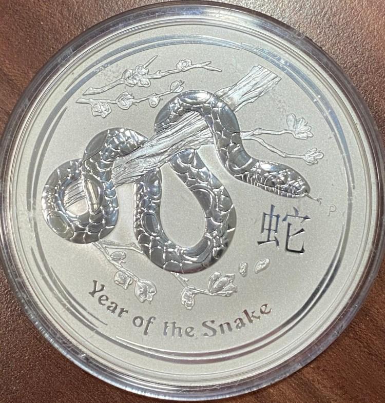 10 Unzen Silber Australien Lunar ll Year of the Snake 2013