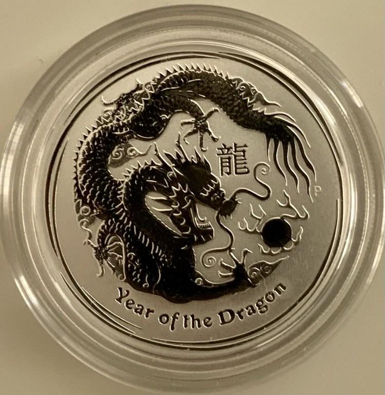 1/2 Unze Silber Australien Lunar II Year of the Dragon 2012