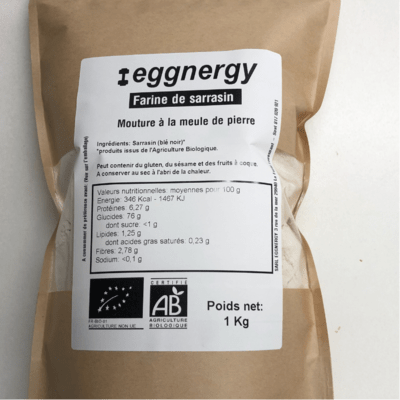 Farine de sarrasin bio en 1 kg