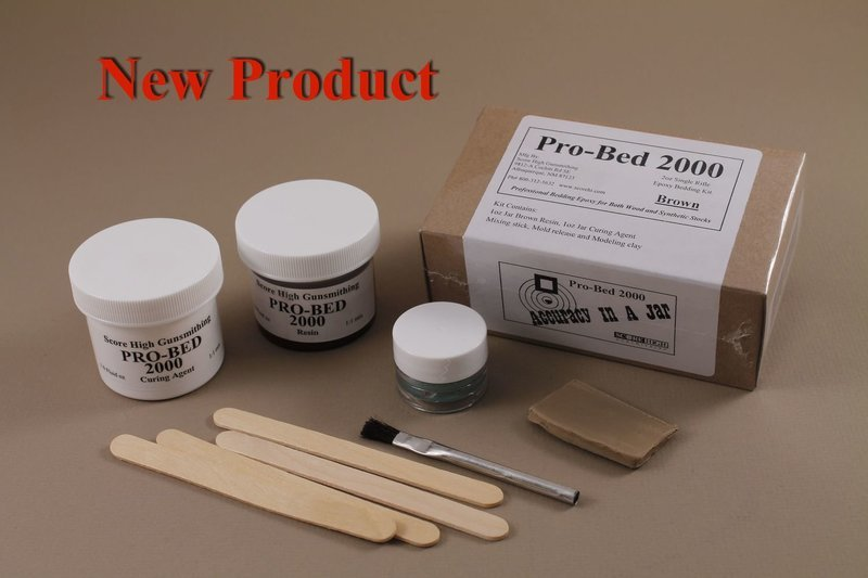 Pro-Bed 2000 Single Rifle Bedding kit with Brown Resin.