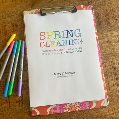 Spring Cleaning BUNDLE: Calendar, Checklists, and More (customizable)