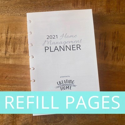 2021 Planner: REFILL PAGES