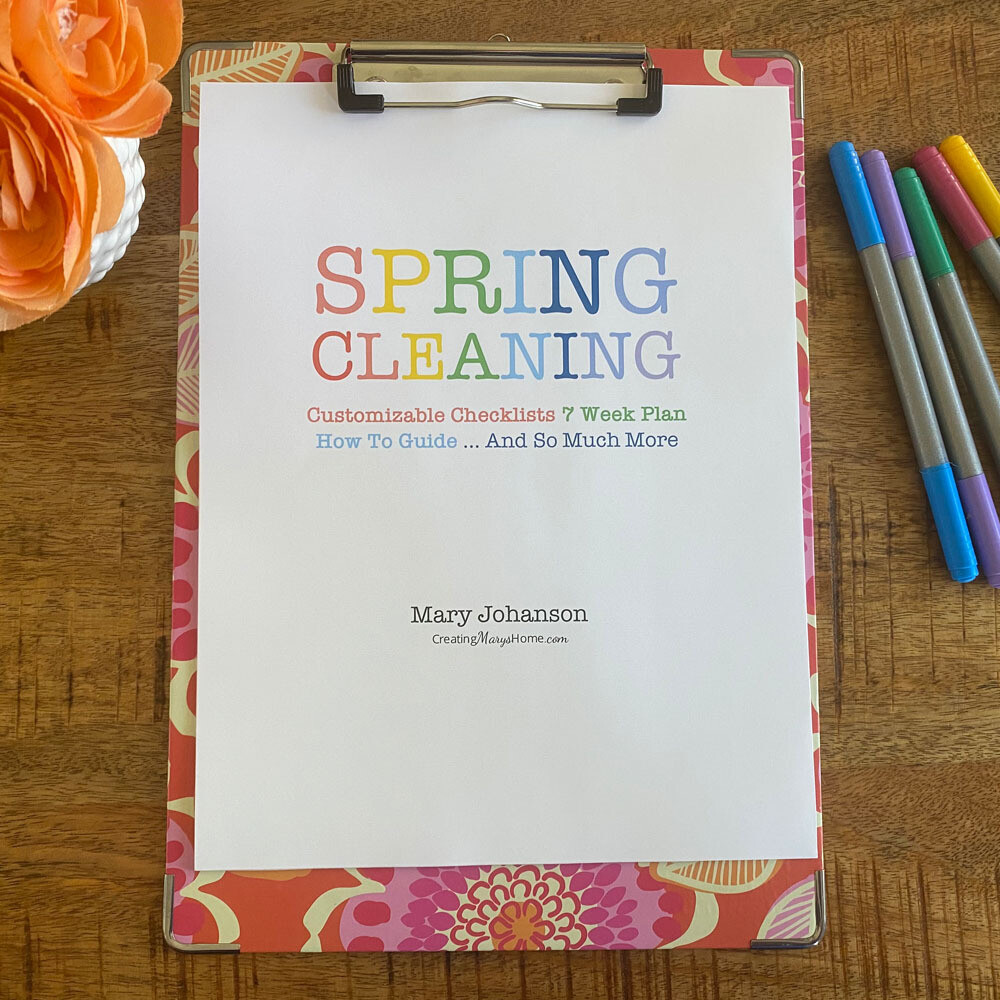 Spring Cleaning BUNDLE: 7 Week Plan, Checklists, and So Much More (customizable)