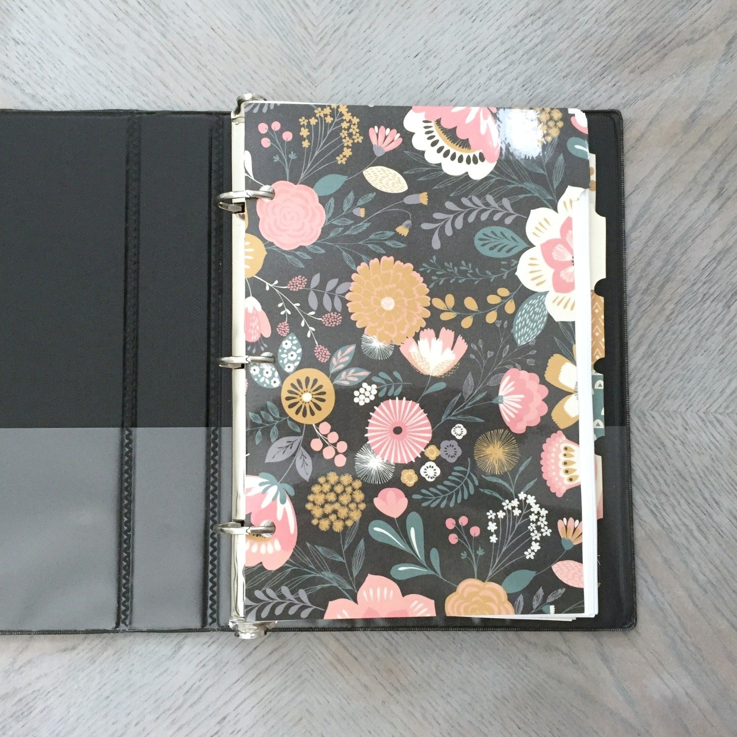 2017-2018 HM Planner, Black 3-Ring Mini-Binder, Personal Size Pages (5.5