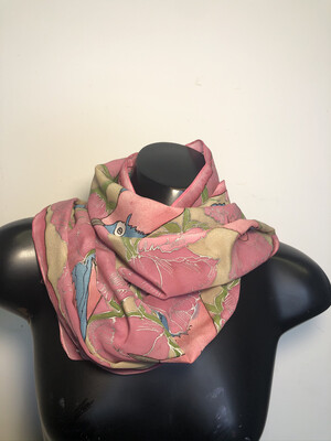 In The Pink Rose Garden Scarf