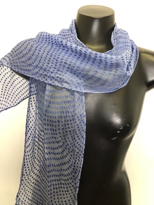 Iced blue Dots Burnout  Scarf
