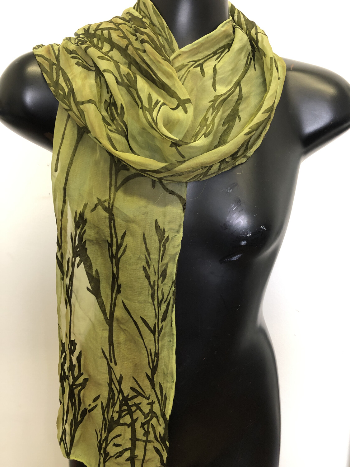 Dusty Sage Bamboo Burnout  Scarf