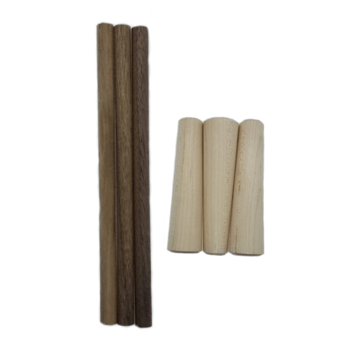Turkey Pot Call Striker Build Your Own Maple Handle/Black Walnut  Dowel 3 Pack