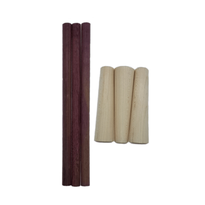 Purple Heart Dowel & Maple Handle Build Your Own (3 Pack)