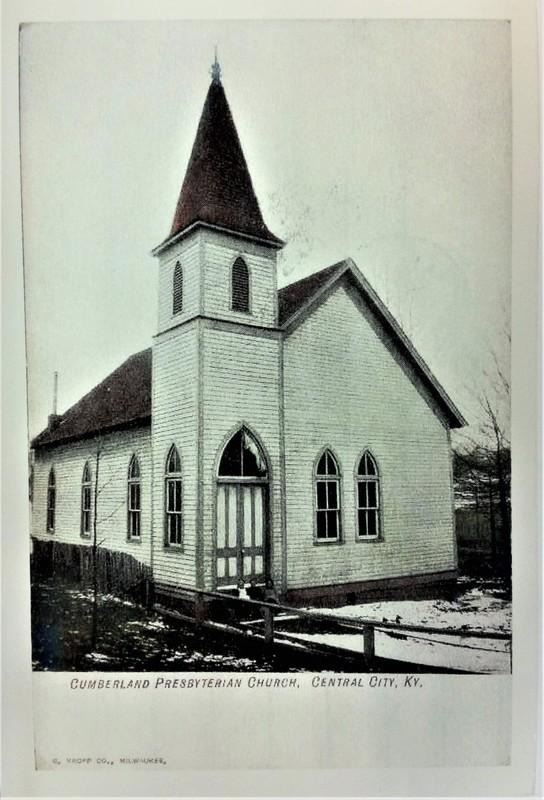 Cumberland Presbyterian Church in Central City Kentucky Post Card