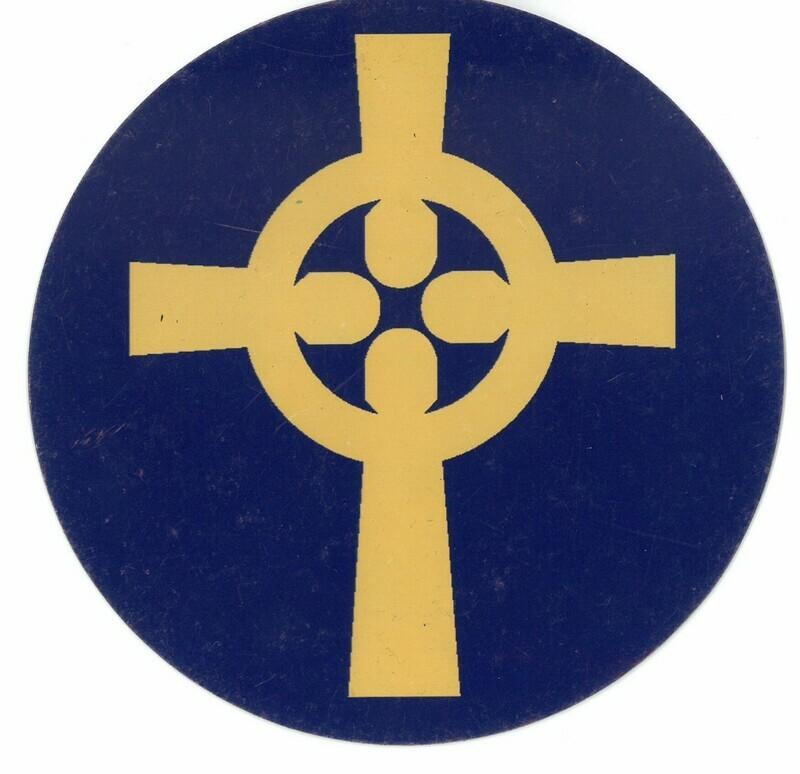 CP Logo round car magnet
