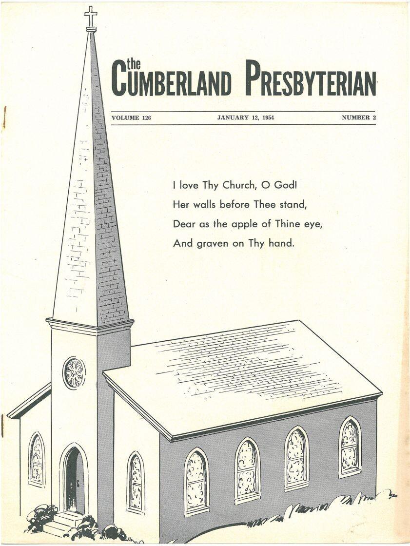January 12, 1954, Cumberland Presbyterian Magazine reprint