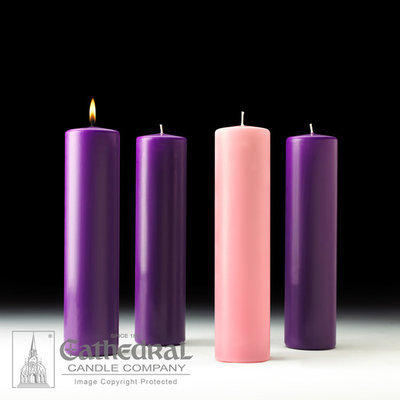 Advent Pillar Candle: 1 Blue 3