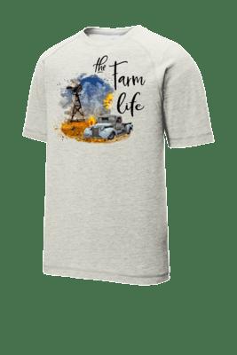 Farm Life/Windmill Tri-Blend Wicking Raglan Tee