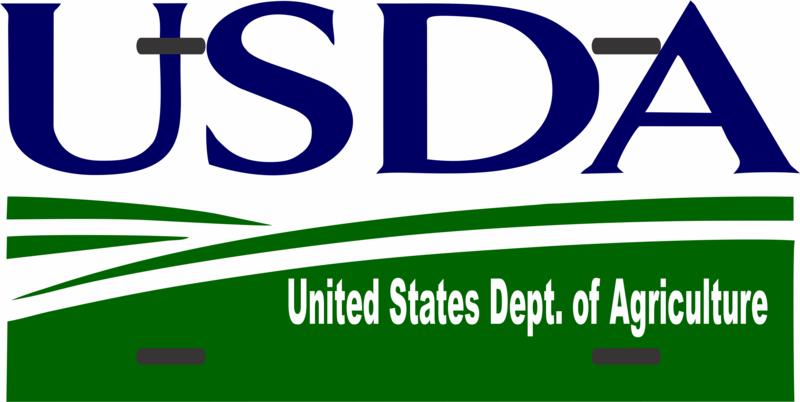 License Plate USDA Logo