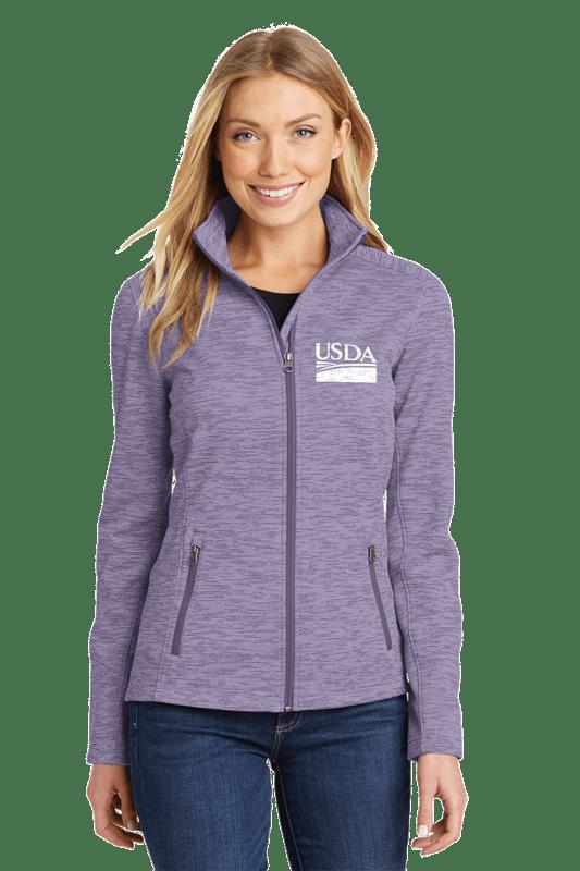Ladies Digi Stripe Fleece Jacket  Custom Embroidery Available