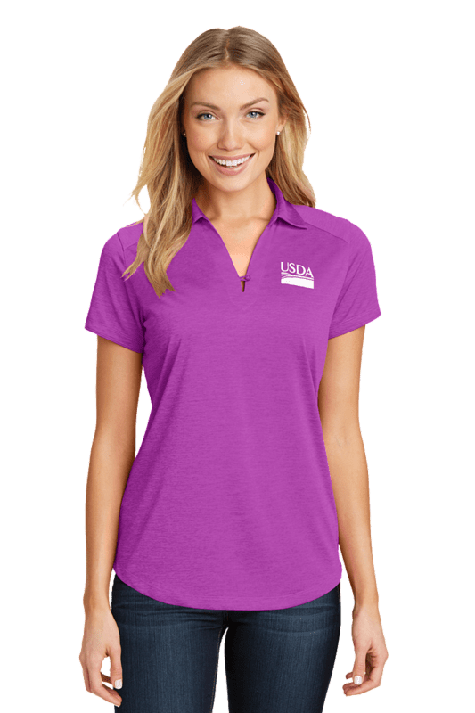 Port Authority Ladies Digi Heather Performance Polo  Custom Embroidery Available
