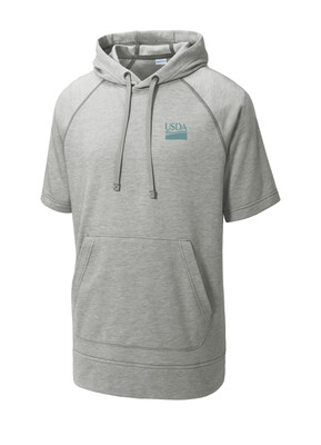 Unisex Sport-Tek ® PosiCharge  Tri-Blend Wicking Fleece Short Sleeve Hooded Pullover